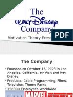 Walt Disney Motivational Theory Presentation