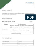 Resume PiyushJain Exp 1yr Linux Unix Admin CSE BTech