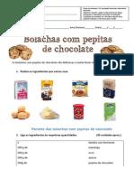 Ficha Das Bolachas de Chocolate (Português e Matemática Funcional)