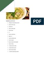 Ingredientes Para Toda La Receta