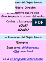 Object Pronouns Spanish