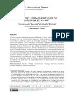 """""""Lentes"""" Hermenêuticas de Meister Eckhart"""