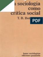 La sociología como crítica social- XIII