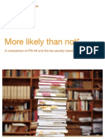 Fin 48 Tax Penalty Standard