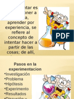DIAPOSITIVAS EXPERIMENTACION
