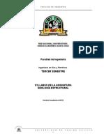 Syllabus Geologia de Bolivia