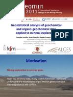 El Análisis Estadístico de Los Datos Geoquímicos y Organo-geoquímica Aplicada a La Exploración de Minerales