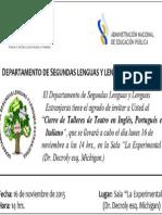Invitación a Muestra de Teatro Lenguas 2015