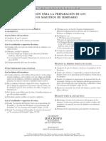 Info Preparacion Nuevos Maestros Seminario