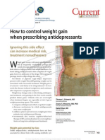 How to Control Weight When Prescribing Antidepressants
