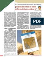 El papa se pronuncia sobre la crisis ecológica con la encíclica Laudato si'