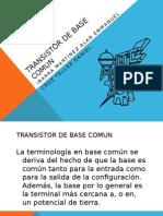 Transistor de Base Comun