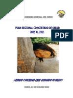 Plan Regional Concertado de Salud Cusco 2015  2021