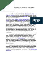 Leonardo Davinci - Viata Si Activitatea - Referat
