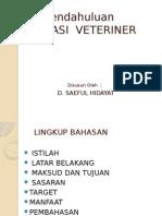 1. Pengantar Farmasi Veteriner
