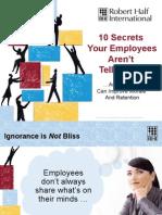 10 Secretos Que Tus Trabajadores No Te Están Diciendo