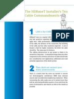The HDBaseT Installer's Ten Cable Commandments