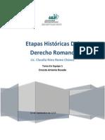 Etapas historicas del derecho romano