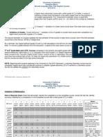 UC Validation Matrix