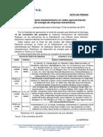 Modelo de nota de prensa institucional del sector eléctrico
