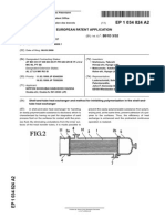 [2000.08.03] EP1034824A2 Shell-And-tube Heat Exchanger and Method for Inhibiting Polymerization in the Shell-And-tube Heat Exchanger