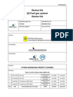 Device List Fuel Gas System