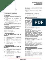 Projeto Retrospectiva - Processo Civil