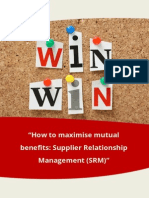 Enrich White Paper How to Maximise Mutual Benefits Supplier Relationship Management