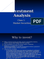 security Inv Analysis Class 1 Securities Market