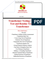 Transformer Testing _ Type Test and Routine Test of Transformer _ Electrical4u