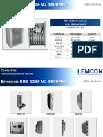 Ericsson Rbs 2216 v2 1800mhz