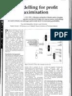 LP Modelling for Profit Maximisation