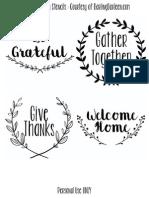Thanksgiving Layout DARLING DARLEEN