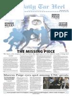 The Daily Tar Heel presents the 2015 men's basketball tab