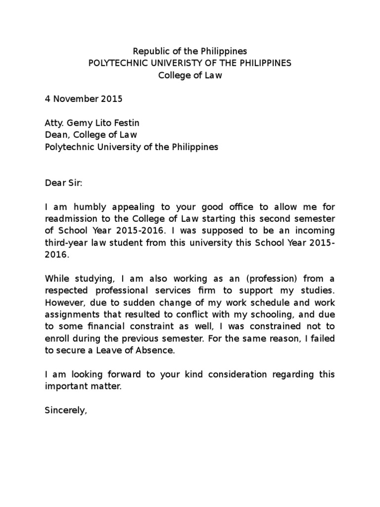 Sample letter of intent to return pup col aljukfo Gallery