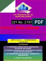 Tema 5, Titulo Preliminar Ley 27972