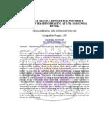 Grammar Translation Method and Direct method in teaching reading at LPIA margonda Depok
