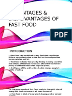 Advantages & Disadvantages of Fast Food