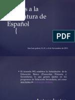 ajustes a la asignatura de español