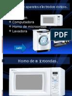 CATALOGO de Aparatos Electrodomest.