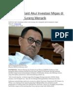 Sudirman Said Akui Investasi Migas Di Indonesia Kurang Menarik