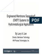 EMS for Hydrometallurgical Applications