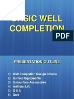 Basic of Well Completion