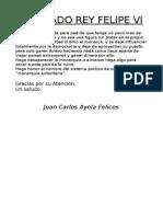 Carta Rey Felipe VI