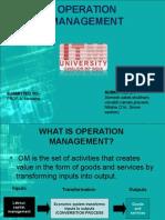 operation management ppt