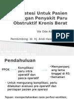 Referat anastesi pada ppok