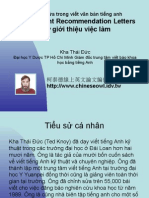 Vietnam 6.9:Thư giới thiệu việc làm
