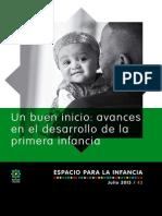 Un Buen Inicio Avances en El Desarrollo de La Primera Infancia