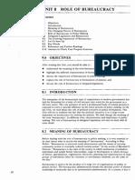 Unit-8 Role of Bureaucracy