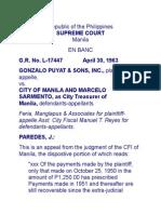 Puyat and Sons v. Manila